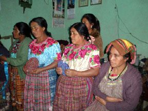 Mayan women show us their work