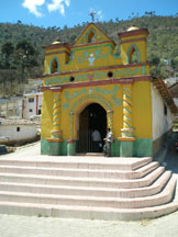 Chapel up the hill in San Andres Xecul