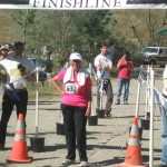 Phyllis at finish line