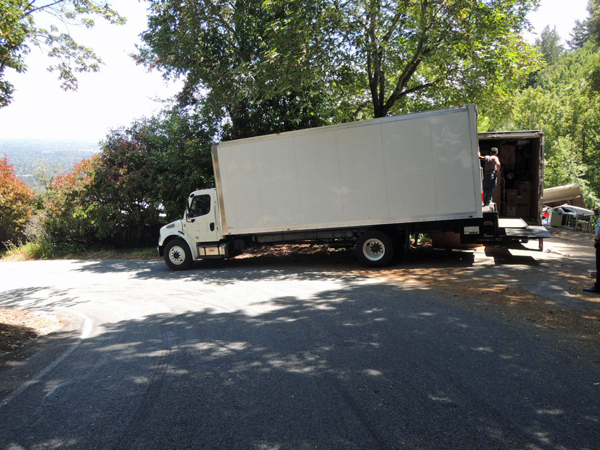 Transferring items to a another truck