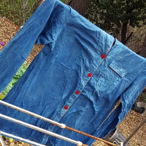 PJ top dyed blue