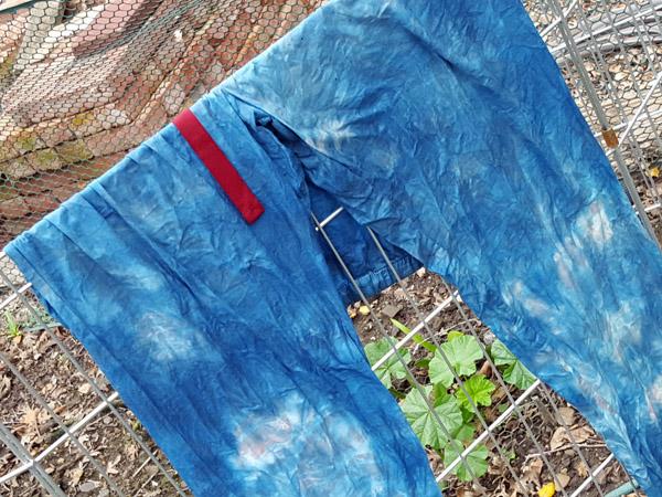 PJ bottoms dyed blue